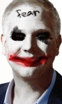 Glenn Beck as the Joker